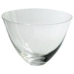 Deborah Ehrlich Small Crystal Bowl, Hand Blown in Sweden