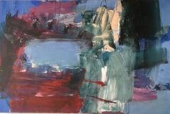 Deborah Lanyon, Lake, Original Abstract, Affordable Contemporary Art, British