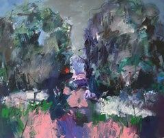 Richmond Park IV: Painting on canvas of Summer in the Park during Lockdown