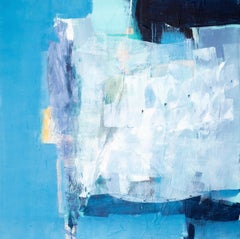 The Souk: Blue Abstract Painting by Deborah Lanyon