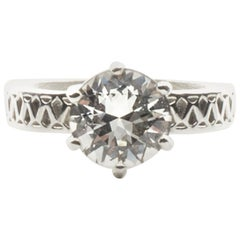 Deborah Murdoch 18 Karat White Gold White Sapphire Cocktail Ring