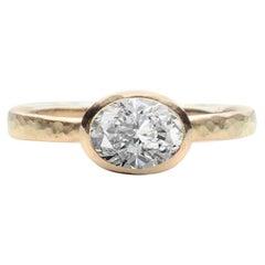 Deborah Murdoch 18 Karat Yellow Gold Oval 1.13 Carat Diamond Engagement Ring