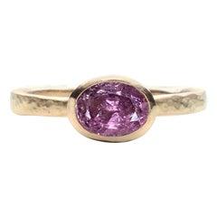 Deborah Murdoch 18 Karat Yellow Gold Oval Pink Tourmaline Ring