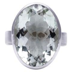 Deborah Murdoch Sterling Silver Green Beryl Cocktail Ring