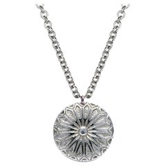 Deborah Murdoch Sterling Silver Patterned Pendant Necklace