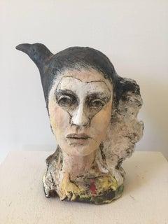 Heart, Figurative Clay Sculpture