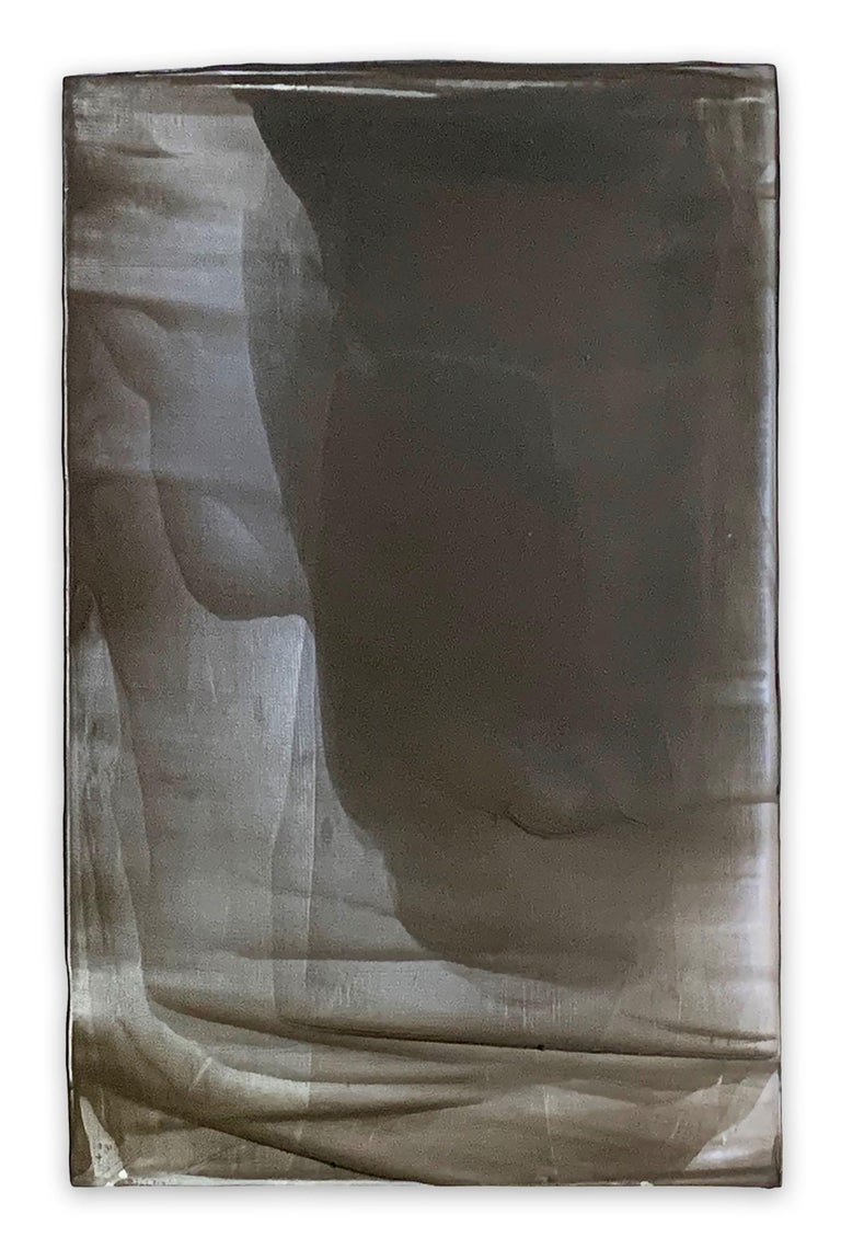 Mirage (Abstract painting) - Gray Abstract Painting by Debra Ramsay