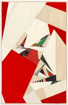 """Debra Smith """"Seeing Red Series 6"""" -- Abstract Silk Collage"""
