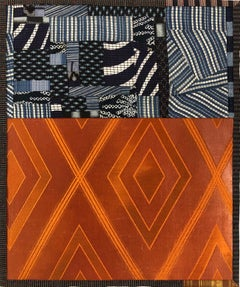"Debra Smith ""Talking Stories 4"" -- Abstract Silk Collage"
