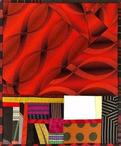 "Debra Smith ""Talking Stories 9"" -- Abstract Silk Collage"