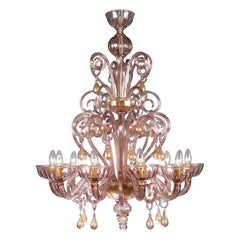 Debussy Chandelier by Wave Murano Glass by Roberto Beltrami