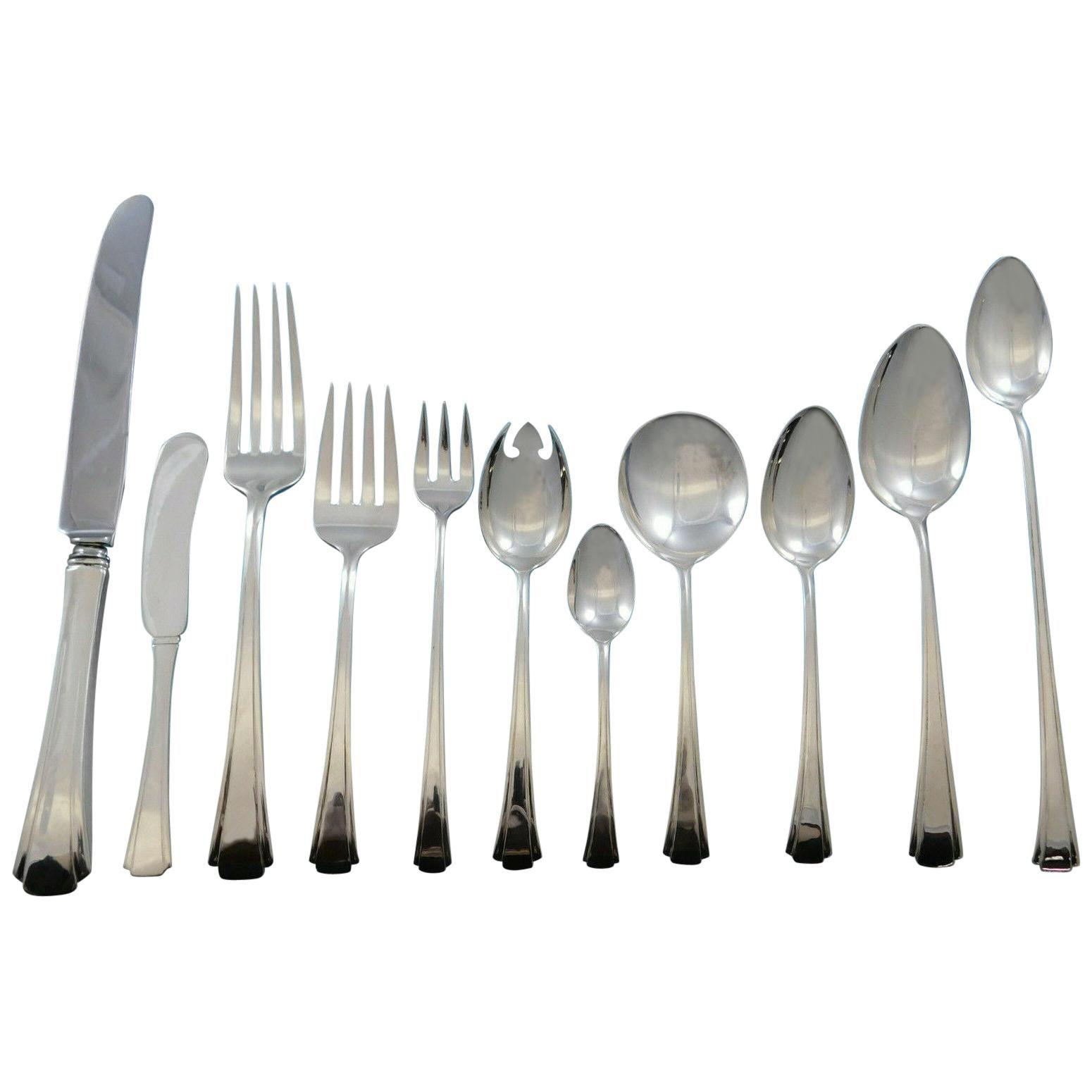 "Debutante by Richard Dimes Sterling Silver Iced Tea Spoon 8 1//4/"""