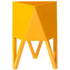 Deca Planter in Daffodil Yellow Steel, Medium by Force/Collide