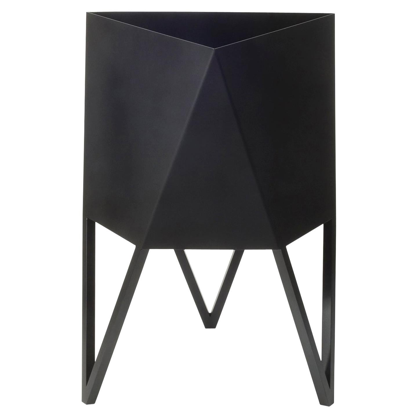 Large Deca Planter in Black by Force/Collide, 2021