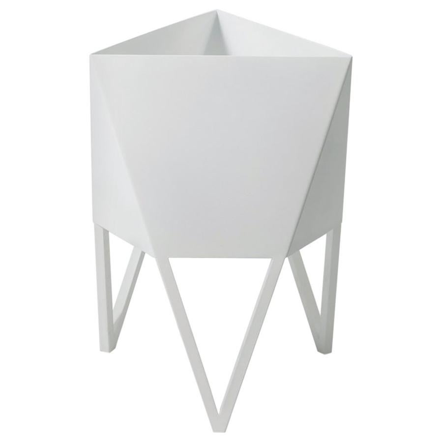 Large Deca Planter in White by Force/Collide, Indoor/Outdoor, 2021