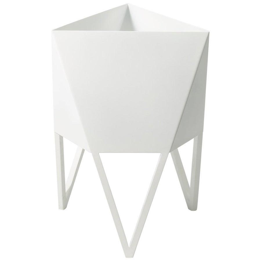 Medium Deca Planter in White by Force/Collide, Indoor/Outdoor, 2021