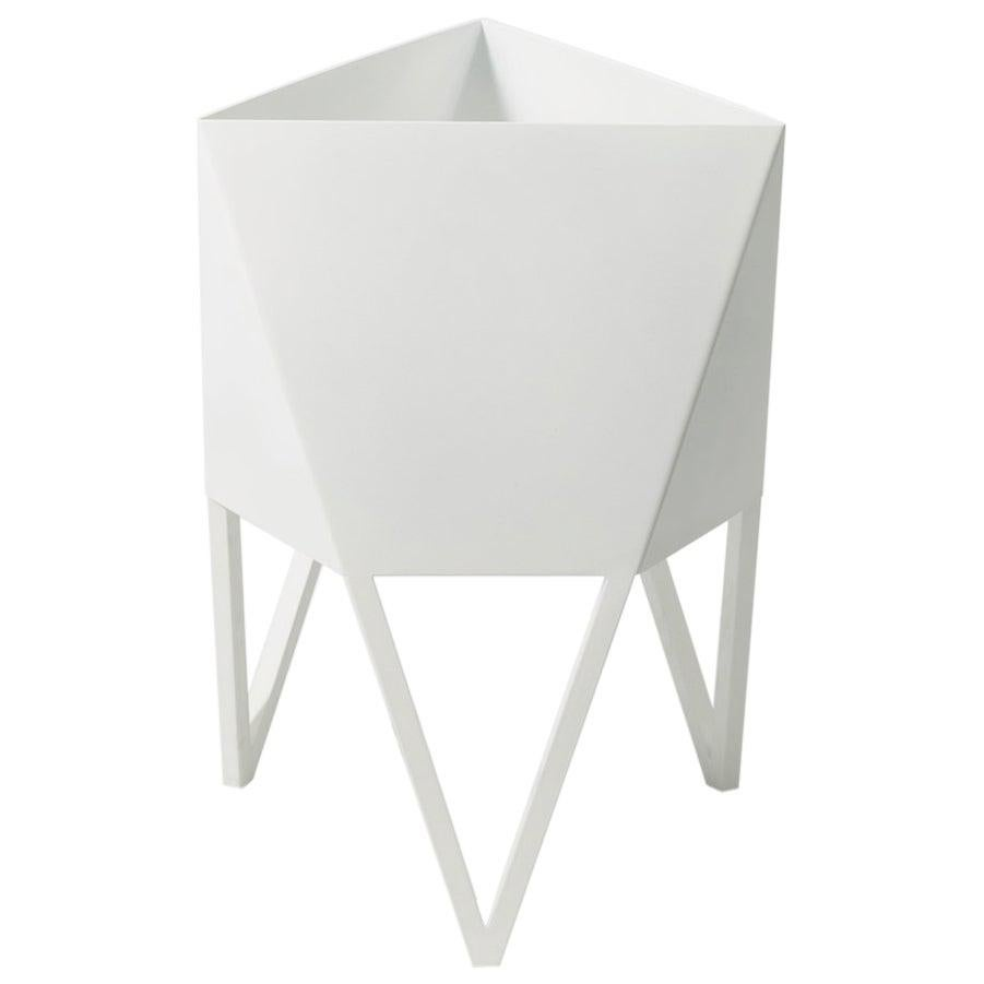 Mini Deca Planter in White by Force/Collide, Indoor/Outdoor, 2021