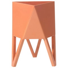 Deca Planter in Living Coral Steel, Mini, by Force/Collide