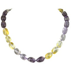 Decadent Jewels Amethyst Citrine shaded Gold Necklace