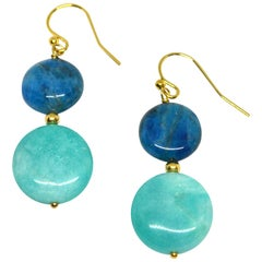 Decadent Jewels Apatite Amazonite Gold Earrings