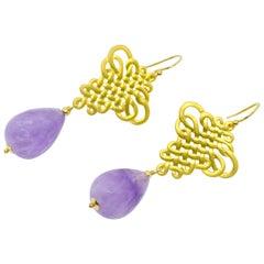 Decadent Jewels Cape Amethyst Gold Earrings