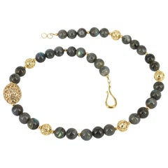 Decadent Jewels Labradorite Gold Necklace