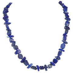 Decadent Jewels Lapis Lazuli Faceted Nugget Gold Necklace