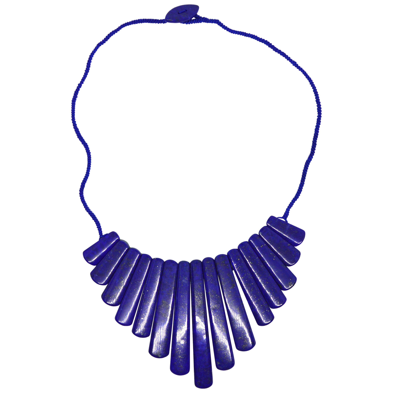 Decadent Jewels Lapis Lazuli Spear Necklace