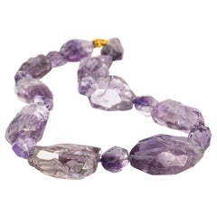 "Decadent Jewels ""Purple Ice"" Amethyst Gold Necklace"
