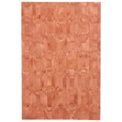 Decadent New Customizable Curvo Shrimp Cowhide Area Floor Rug Large