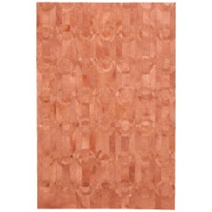 Decadent New Customizable Curvo Shrimp Cowhide Area Floor Rug X-Large