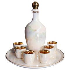 Decanter Set with Six Glasses