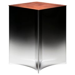 DeCastelli Alchemy 50 Coffee Table in Copper with Stainless Steel Base by Stormo