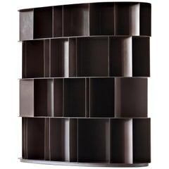 DeCastelli Existence Wall Four-Tier Bookcase in Stainless Steel