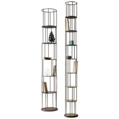 DeCastelli Large Babele Tower Bookcase in Brass by Martinelli Venezia