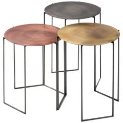 DeCastelli Medium Band Coffee Table in Brass by Baldessari e Baldessari