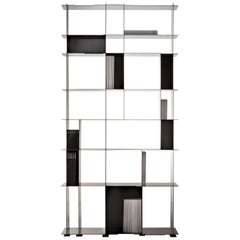 DeCastelli Nippon Bookcase in Stainless Steel by Alberto Nason