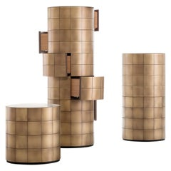 DeCastelli Pandora 102 Chest of Drawers in Brass by Martinelli Venezia