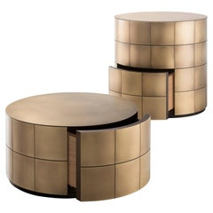 DeCastelli Pandora 27 Chest of Drawers in Brass by Martinelli Venezia