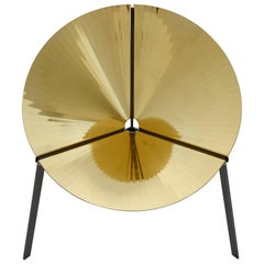 DeCastelli Pensando Ad Acapulco Chair in Polished Brass by IvDesign