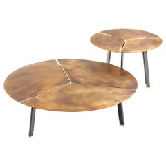 DeCastelli Placas Large Table in Brass by LucidiPevere