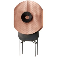 DeCastelli Polifemo Cabinet in Brushed Copper by Elena Salmistraro
