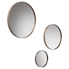 DeCastelli Riflesso 45 Mirror with Stainless Steel Frame by R&D De Castelli