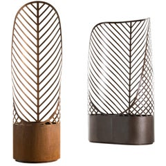 DeCastelli Screen-Pot 2 Planter in Bronzed Stainless Steel by Francois Clerc