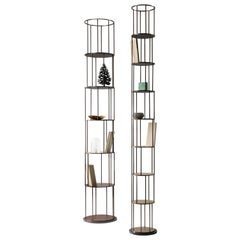DeCastelli Small Babele Tower Bookcase in Copper by Martinelli Venezia