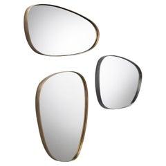 DeCastelli Syro 56 Mirror in Stainless Steel Frame by Emilio Nanni