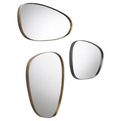 DeCastelli Syro 76 Mirror in Brass Frame by Emilio Nanni