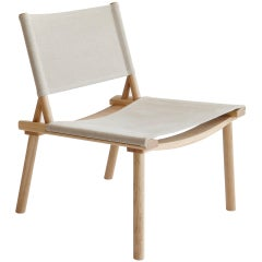 December Chair with Canvas Upholstery by Jasper Morrison & Wataru Kumano