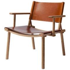 December Lounge Chair with leather upholstery by Jasper Morrison & Wataru Kumano