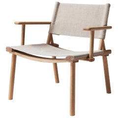 December Lounge Chair with Canvas Upholstery by Jasper Morrison & Wataru Kumano